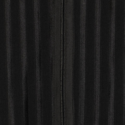 D'AVENZA Roma Black Striped Wool-Silk Flat Front Dress Pants 50 NEW US 34 Classi