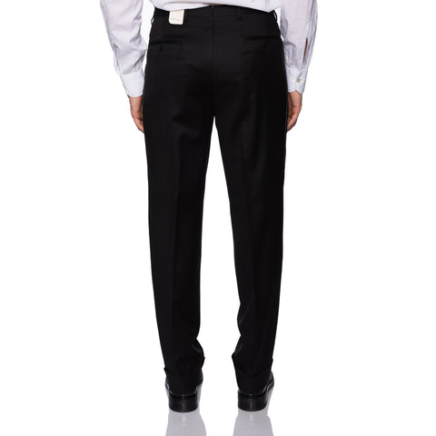 D'AVENZA Roma Black Wool DP Dress Pants EU 50 NEW US 34 Classic Fit