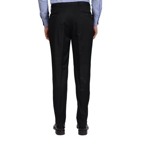 D'AVENZA Roma Black Wool DP Dress Pants EU 52 NEW US 36 Classic Fit