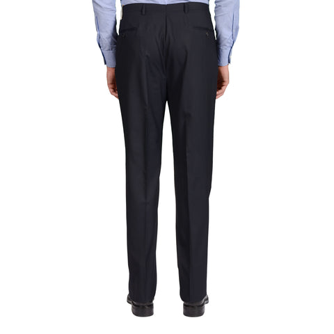 D'AVENZA Roma Dark Blue Wool DP Dress Pants EU 54 NEW US 38 Classic Fit