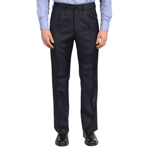 "D'AVENZA Roma ""Feru"" Dark Blue Wool SP Dress Pants EU 48 NEW US 32 Classic Fit"