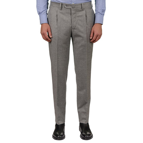 D'AVENZA Roma Gray Wool-Cashmere SP Dress Pants EU 50 NEW US 34 Regular Fit