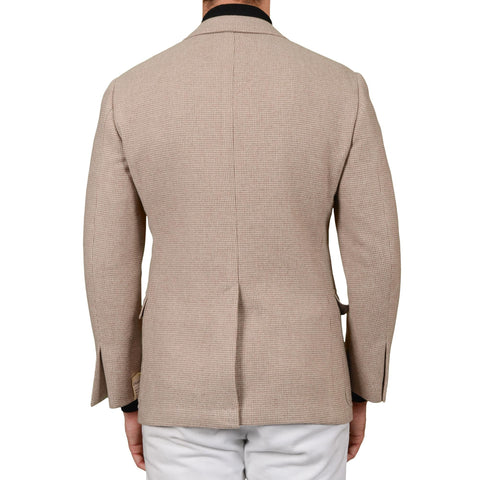 D'AVENZA Roma Handmade Beige Wool-Cashmere Unlined Coat EU 48 NEW US S