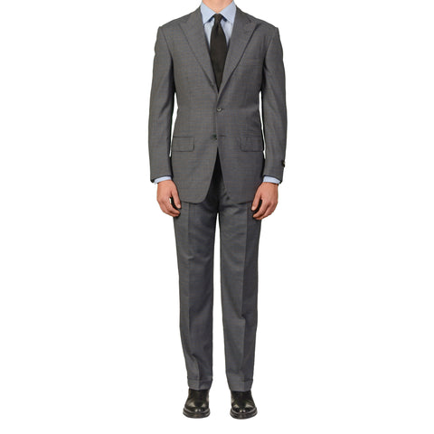 D'AVENZA Roma Handmade Blue Plaid Wool Suit EU 50 NEW US 40