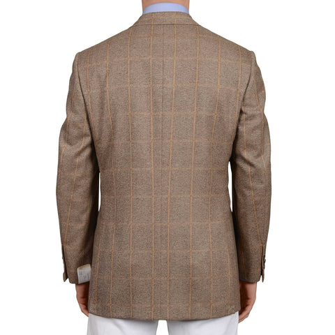 D'AVENZA Roma Handmade Wool Flannel Jacket Sport Coat 50 NEW US 40