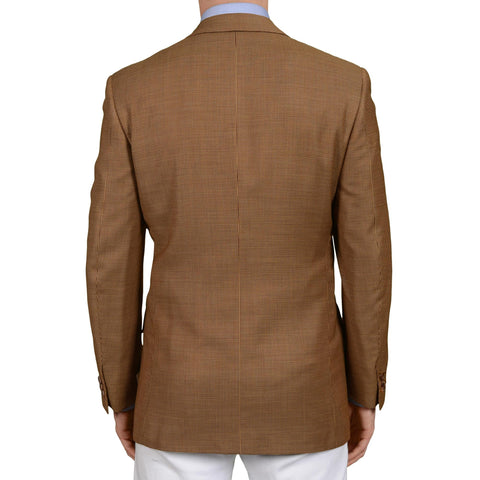 D'AVENZA Roma Handmade Brown Wool Blazer Jacket EU 50 NEW US 40