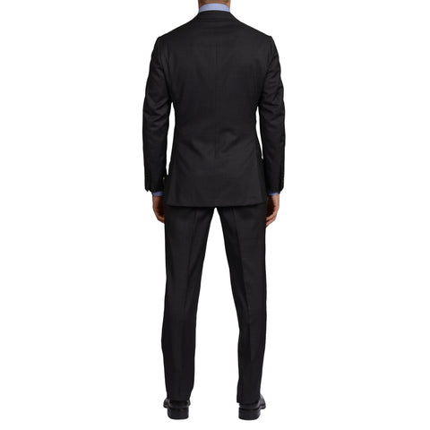 D'AVENZA Roma Handmade Dark Gray Wool Suit EU 48 NEW US 38