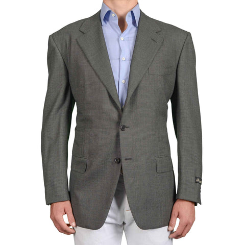 D'AVENZA Roma Handmade Gray Birdseye Wool Jacket Sport Coat EU 58 NEW US 48