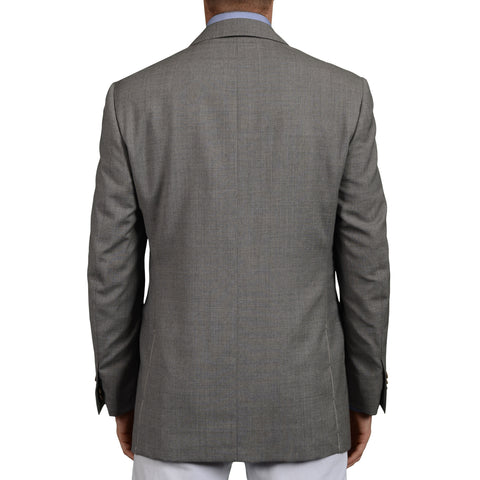 D'AVENZA Roma Handmade Gray Wool Blazer Jacket Sports Coat EU 50 NEW US 40