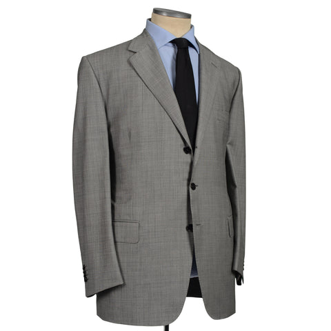D'AVENZA Roma Handmade Gray Wool Suit EU 62 NEW US 52
