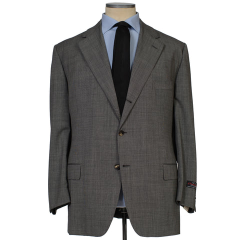 D'AVENZA Roma Handmade Gray Wool Super 120's Suit EU 62 NEW US 52