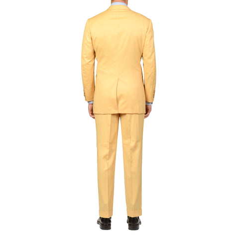 D'AVENZA Roma Handmade Yellow Wool Super 120's DB Suit EU 50 NEW US 40