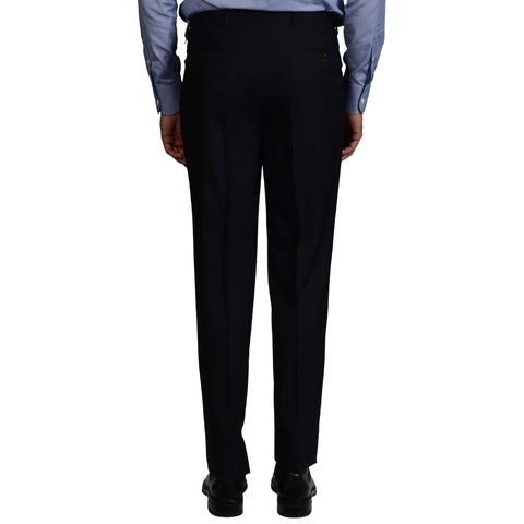 D'AVENZA Roma Navy Blue Wool DP Dress Pants EU 52 NEW US 36 Classic Fit