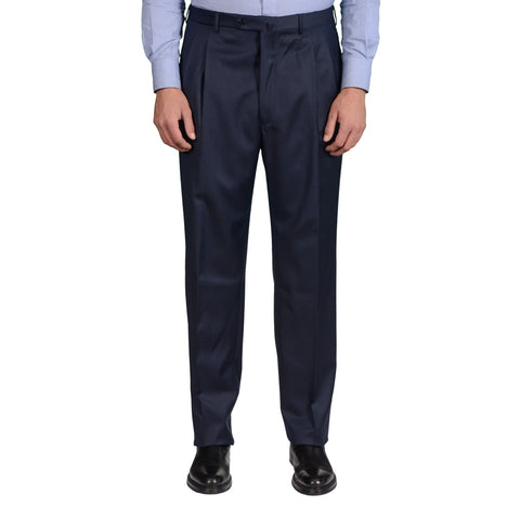 D'AVENZA Roma Navy Blue Wool DP Dress Pants EU 54 NEW US 38 Classic Fit