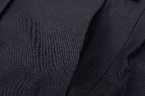D'AVENZA Roma Navy Blue Wool Twill DP Dress Pants EU 60 NEW US 44 Classic Fit