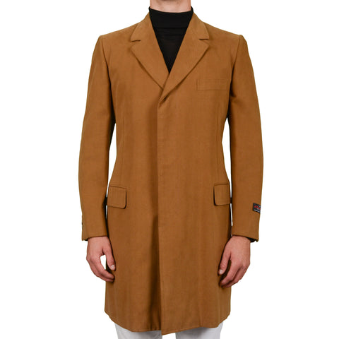 "D'AVENZA Roma ""Wessex"" Handmade Rust Cotton Coat EU 50 NEW US M"