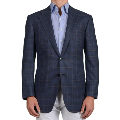 D'AVENZA for DAMIANI Handmade Blue Wool-Silk-Cashmere Blazer Jacket NEW