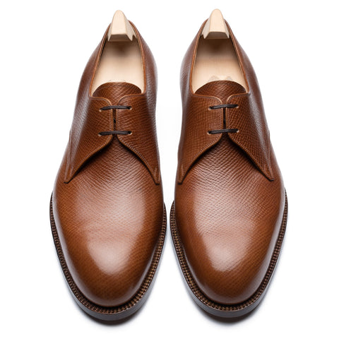 "PASSUS SHOES Handmade ""Tom"" Sienna Hatch Grain Derby Shoes 10 NEW 43"