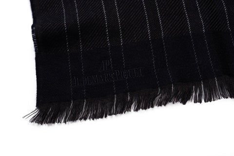 ERMENEGILDO ZEGNA For AUDEMARS PIGUET Dark Blue Striped Wool Scarf