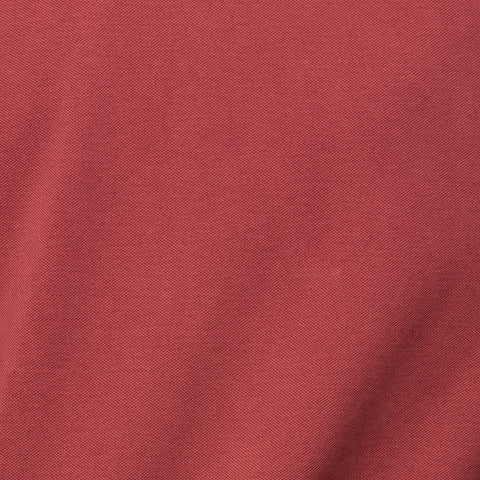 "FEDELI Solid Crimson ""Dusty System"" Cotton Pique Long Sleeve Polo Shirt 50 NEW M"