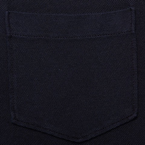 "FEDELI 34 LAB Solid Navy Blue ""Dusty System"" Cotton Pique Polo Shirt 48 NEW US S"