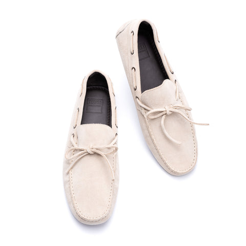 "FEDELI ""Hamilton"" Beige Suede Loafers Driving Car Shoes Moccasins EU 43 NEW US 10"