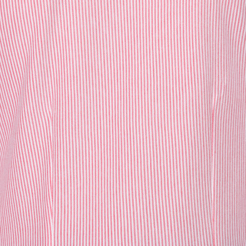 "FEDELI ""Kaos"" Red Striped Cotton Oxford Pique Long Sleeve Polo Shirt 56 NEW 2XL"