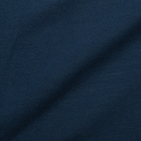 "FEDELI ""Kaos"" Solid Navy Blue Garment Dyed Cotton Pique Polo Shirt 56 NEW 2XL Slim"