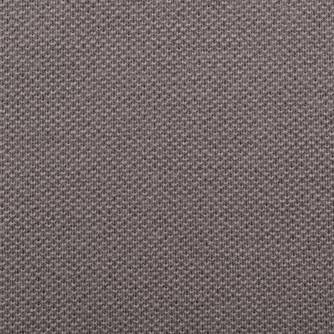 "FEDELI ""North"" Solid Gray Cotton Pique Frosted Short Sleeve Polo Shirt 52 NEW L"