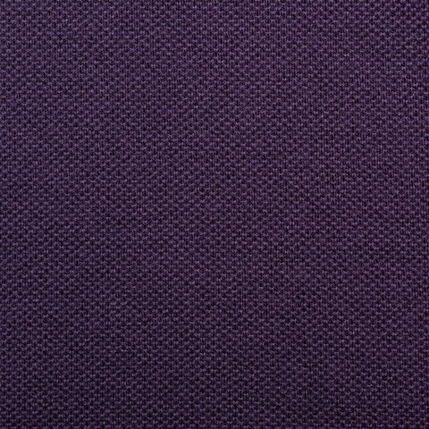 "FEDELI ""North"" Solid Purple Cotton Pique Frosted Polo Shirt EU 50 NEW US M"