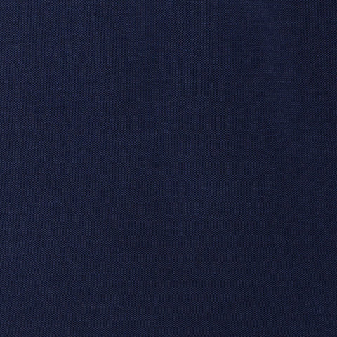 "FEDELI Solid Navy Blue ""Dusty System"" Old Dyed Cotton Pique Polo Shirt NEW US S"