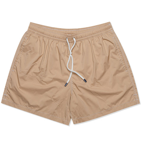 FEDELI Solid Beige Madeira Airstop Swim Shorts Trunks NEW