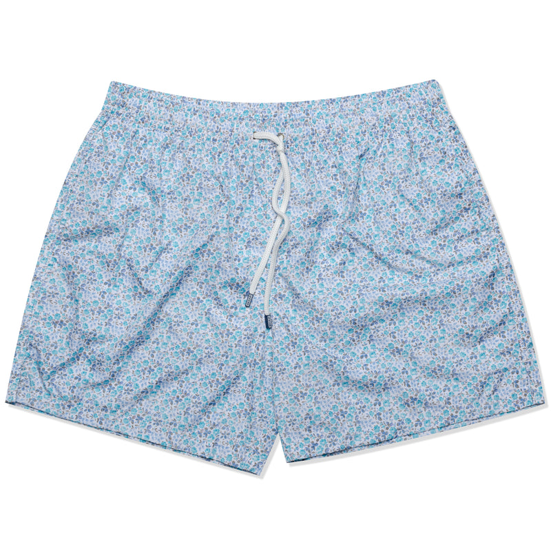 FEDELI Made in Italy Blue Floral Madeira Airstop Swim Shorts Trunks NEW 2XL