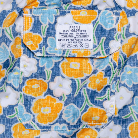 FEDELI Made in Italy Blue Floral Madeira Airstop Swim Shorts Trunks NEW Size 2XL