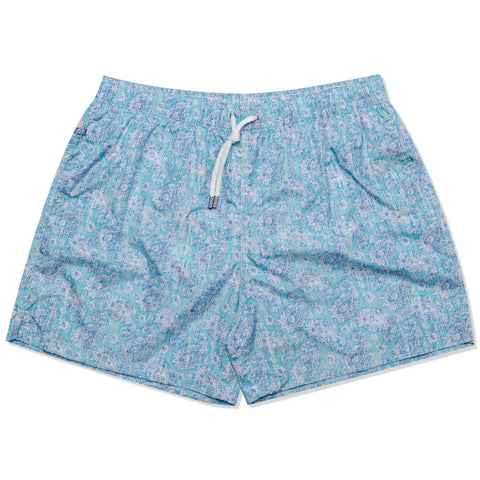 FEDELI Made in Italy Blue Paisley Madeira Airstop Swim Shorts Trunks NEW 2XL