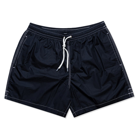 FEDELI Solid Dark Blue Madeira Airstop Swim Shorts Trunks NEW