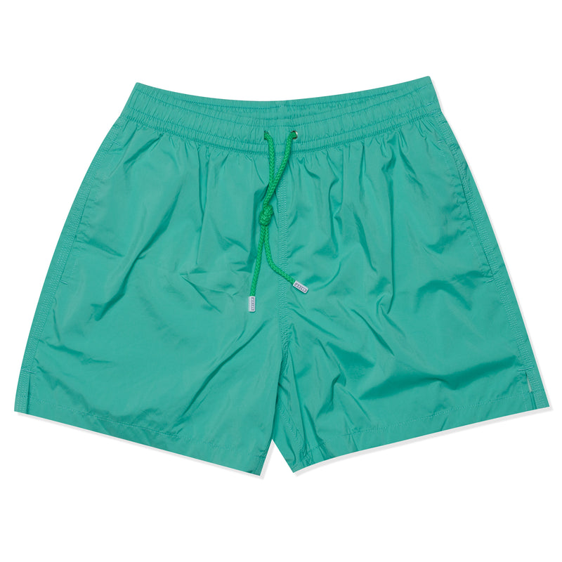FEDELI Solid Emerald Green Madeira Airstop Swim Shorts Trunks NEW