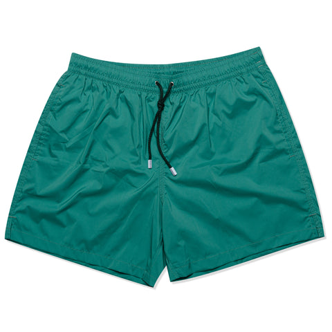 FEDELI Solid Emerald Green Madeira Airstop Swim Shorts Trunks NEW Size L