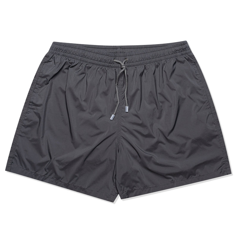 FEDELI Solid Gray Madeira Airstop Swim Shorts Trunks NEW 2XL