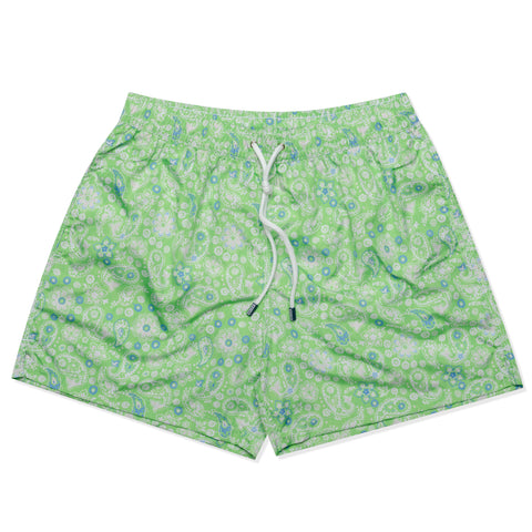 FEDELI Italy Green Floral Paisley Madeira Airstop Swim Shorts Trunks NEW M