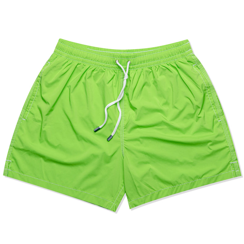 FEDELI Solid Green Madeira Airstop Swim Shorts Trunks NEW
