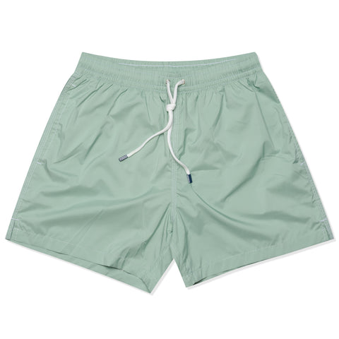 FEDELI Solid Light Olive Madeira Airstop Swim Shorts Trunks NEW