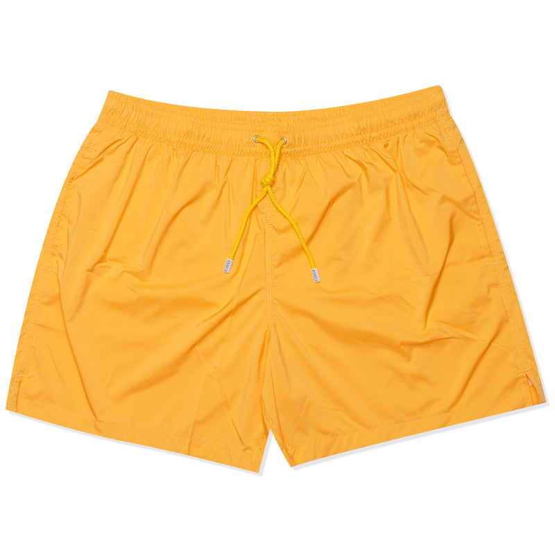 FEDELI Solid Light Orange Madeira Airstop Swim Shorts Trunks NEW XL