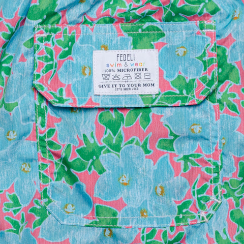 FEDELI Italy Multi-Color Floral Madeira Airstop Swim Shorts Trunks NEW 2XL
