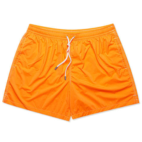 FEDELI Solid Orange Madeira Airstop Swim Shorts Trunks NEW