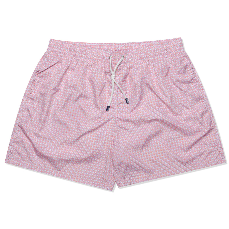 FEDELI Made in Italy Pink Circle Dot Madeira Airstop Swim Shorts Trunks NEW 2XL