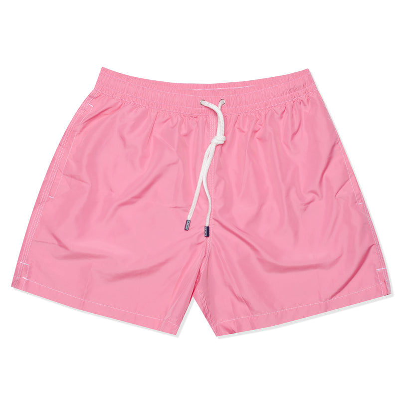 FEDELI Solid Pink Madeira Airstop Swim Shorts Trunks NEW