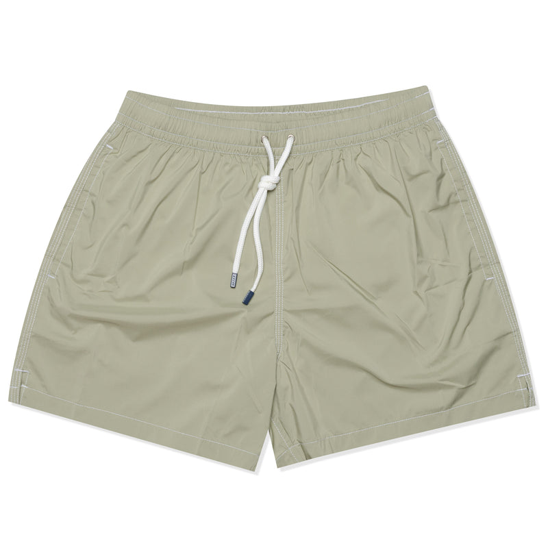 FEDELI Solid Sage Madeira Airstop Swim Shorts Trunks NEW