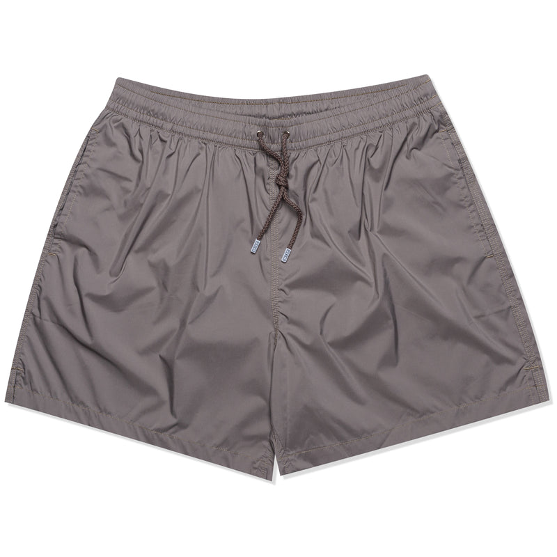 FEDELI Solid Taupe Gray Madeira Airstop Swim Shorts Trunks NEW 2XL