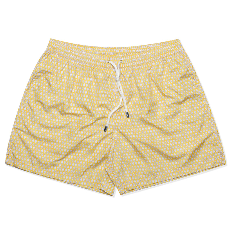 FEDELI Made in Italy Yellow Leaf Madeira Airstop Swim Shorts Trunks NEW 2XL